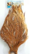 """#1 """"CHINESE NECK """" SUPER NICE QUALITY ( NAT.BARRED GINGER  )STREAMERS & SALMON"""