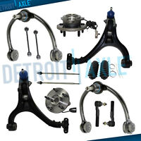 14pc Front Control Arms + Wheel Hub Kit for 05-10 Jeep Commander Grand Cherokee