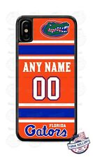 FLORIDA GATORS FOOTBALL PHONE CASE COVER WITH ANY NAME & NO. FOR iPHONE SAMSUNG
