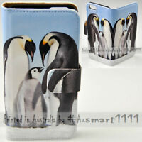 For Samsung Galaxy Series - Penguin Theme Print Wallet Mobile Phone Case Cover