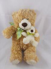 "Mary Meyer Bear w/ Cub Plush Family Christian Store 12"""