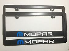 Mopar Logo Plastic License Plate Frames Vinyl Decal Dodge Two
