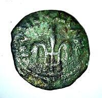 ANCIENT ROMAN BIBLICAL COIN, PONTIUS PILATE; JERUSALEM MINT, 26-36 A.D.