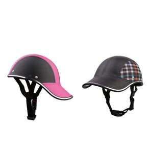 Pink + Black Men & Women Motorbike Scooter Moped Helmets Half Open Face