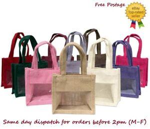 Jute Hessian Mini Gift Bag Reusable Eco Friendly Natural Bags Wholesale UK