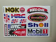 13 Sticker Aufkleber auf Bogen Veloil NGK Shell Mobil1 Racing Motorsport Tuning