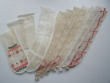 """10 pcs Sausage Casing Mix, sewed, in Spiral net of 4 and 6 cells Ø2.2"""" and other"""