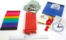 Homeschool Math Manipulatives Kit for use with Saxon BJU Sonlight Grades 3-6 NEW