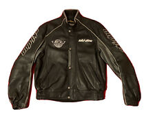 New ListingNice! Skidoo Bombardier Leather Jacket Team Rt 1000 Snowmobile Mens Large Black