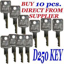 10 pcs. Case  RA4 - D250 Key ,  Bag of 10  Keys  Bobcat, Case, Terex