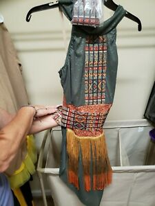 Dance costume girls African Tribal Jazz.   Size adult small.