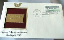 VIETNAM VETERANS MEMORIAL 22 K FIRST DAY OF ISSUE NOV. 10 9,1984 WASHINGTON DC