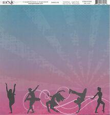 Moxxie - Strike a Pose Scrapbooking Paper 12x12 - Dance Drill Team
