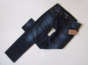 NWT True Religion Slim in Lost Lagoon Old Multi Flap Pocket Jeans 40 x 35 $218