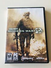 Call of Duty Modern Warfare 2 PC DVD-ROM 2009 Case, 2 Disc, Key COMPLETE MANUAL