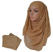 PLAIN PASHMINA Scarf Hijab Shawl Stole Wrap wedding 100% Viscose Quality UK Gltr