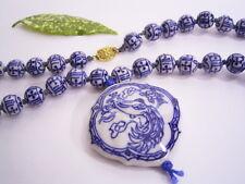 """ Firebird Hand-Painted Porzellan-Kugel-Halskette with Pendant: China"