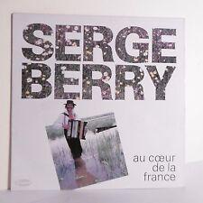 """33T Serge BERRY Disque Vinyle LP 12"""" AU CŒUR DE LA FRANCE Folk  VAGABOND 009"""