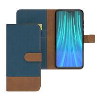 Tasche für Xiaomi Redmi Note 8 Pro Jeans Cover Handy Schutz Hülle Case Blau