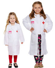 KIDS DOCTOR SCIENTIST DRESSING UP LAB COAT FANCY DRESS COSTUME AGES 2-12 YEARS