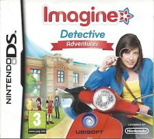 IMAGINE DETECTIVE ADVENTURES for Nintendo DS - with box & manual