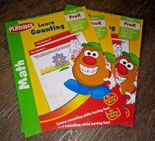 Lot of 3 Playskool Learn Counting PreK Math 1-10 Mr Potato Head Workbook