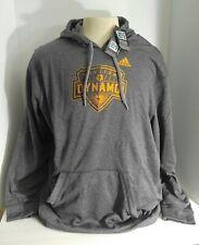 2XL Houston Dynamo Soccer MLS Hoodie Pullover Sweater Adidas