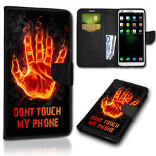 Smartphone abatible, móvil bolso new-181 (Don 't Touch My Phone) cubierta protectora