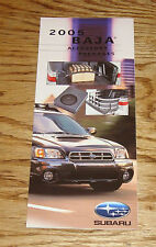 Original 2005 Subaru Baja Accessory Packages Foldout Sales Brochure 05