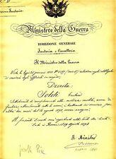 15344- Autografo Pelloux Luigi su decreto 1893