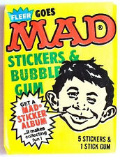 Fleer MAD Sealed/Unopened Trading Cards Wax Pack (1983)