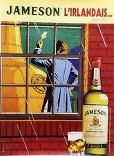 """""""JAMESON"""" Affiche originale entoilée années 80  (Ted BENOIT)  125x165cm"""