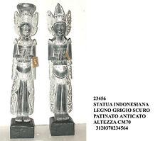 Statue bois style ethnique cm 70 représentant dea indonésien 2 decori