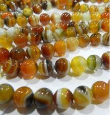"10mm Round Yellow Persian Gulf Agate A Grade Beads 15 """