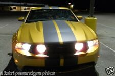 "2011 2012 2013 Mustang 10"" Plain Rally stripes Stripe Graphics GT LX Cobra GT500"