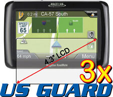 3x Magellan Roadmate 2120T 2120T-LM 2136T-LM 2145T-LM GPS Clear Screen Protector