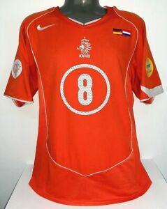 NIKE NETHERLANDS HOLLAND DAVIDS EURO 2004 VS GERMANY M ORIGINAL SHIRT JERSEY