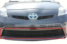 GTG 2012 - 2015 Toyota Prius 1PC Gloss Black Overlay Bumper Billet Grille Grill