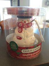 NEW Yankee Candle Sparkling Cinnamon Luminary Tea Light Holder Burner Snowman