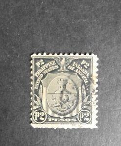 Philippines stamp 1911 2p. Coat of arms possession rare! Used black