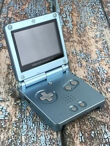 Nintendo Game Boy Advance SP (AGS-101) Pearl Blue Backlit Bright Screen