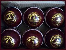 12 x Best Quality 4 Piece Leather Cricket Balls 156 gms Acc. MCC Regulations~
