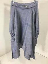 Muguet Chambray maternity tunic/ top plus size smock clothing hand-made in Italy