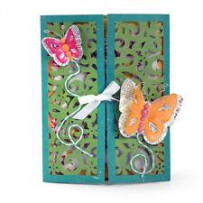 Sizzix Thinlits Troquelado Set - 10PK-tarjeta Gatefold-Mariposas 661390