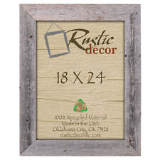 """18x24 - 3.5"""" Extra Wide Reclaimed Rustic Barn Wood Wall Frame"""