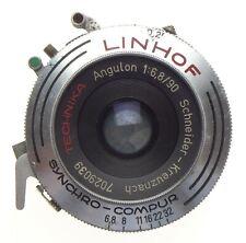LINHOF Technika Angulon 1:6.8/90 large format prime camera lens used condition