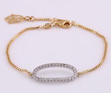 Luxus Armband Armkette Fatima Hamsa weiß 750er Rosegold 18K vergoldet