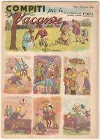 Quaderno 3^ classe PINOCCHIO - Taurinia 1949 ca. ill. Turiddu(?) GIOCO dell'OCA*