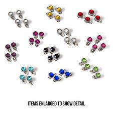 Dermal Anchor 44 Dermal Tops and 44 Bases Jewelry 316L Steel Multi Press-Fit Gem
