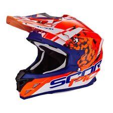 Casco Moto Cross Scorpion Vx 15 KISTUNE Orange Blue White TG M
